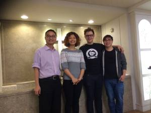 From the left: Pastor of the Sister Church, Angela, Chris & Cloud, the pastoral staff at the Aroma
